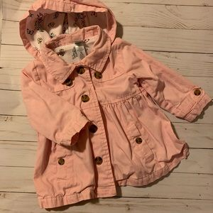 Pink Peacoat with Hood